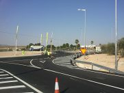 Roundabout in RM-425 Road . Yecla (Murcia)